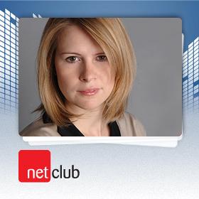 Logo NetClub s Lucií Tvarůžkovou