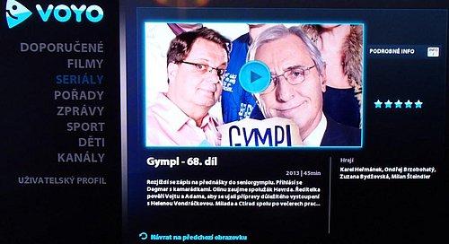 Voyo s půjčovnou filmů a archivem TV Nova se dobře ovládá, a to včetně zadávání názvů pořadů.
