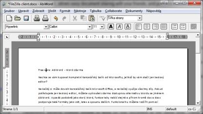 AbiWord je zdarma dostupný textový editor podobný Wordu
