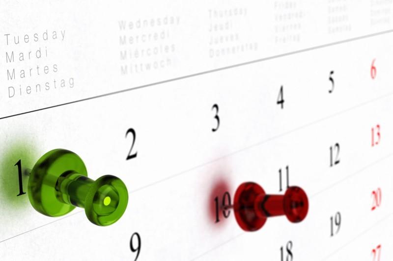 čas, kalendář, time management