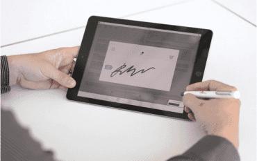 Biometrické podepisování smluv.