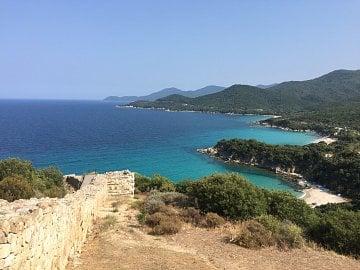 Okolí města Olympiada v Řecku.