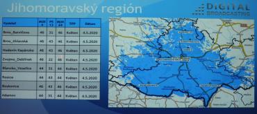 Vypnutí DVB-T vysílačů Digital Broadcasting na jižní Moravě.