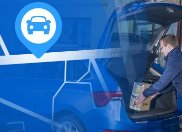 Alza.cz doručuje zásilky do zaparkovaných aut.