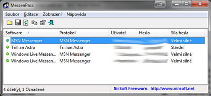 MessenPass zjistí heslo k vašemu IM účtu