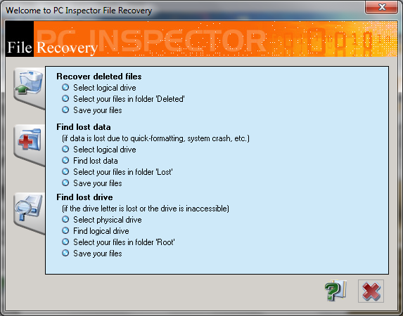 PC Inspector File Recovery obnoví nechtěně smazané soubory