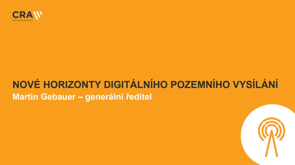 Prezentace o DVB-T2 - Martin Gebauer, ČRA (listopad 2017)