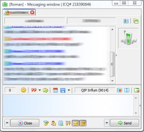 QIP Infium - Rozšířené zobrazení komunikačního okna