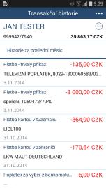 Mobilní bankovnictví WSPK pro Android, iOS a Windows Phone.