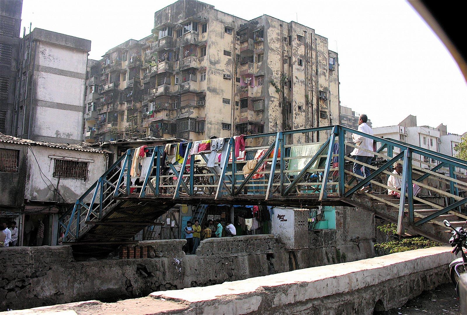 Dharavi slum, Bombaj, Indie