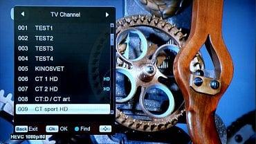 Screenshot z Menu přijímače Ferguson Ariva T265, kde se minulý týden objevily nové pozice na kanálu 57 Regiosítě 20.