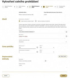 Vyplníte informace o obsahu zásilky
