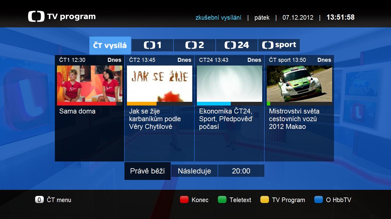 TV program: Nová HbbTV aplikace České televize