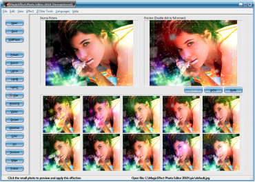 <p>MagicEffect Photo Editor - vlevo původní fotka a vpravo s nově přidaným efektem</p>