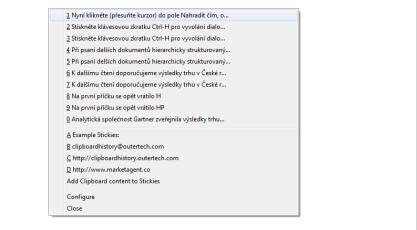 Pomocí Clipborad Historii rozšíříte paměť schránkx