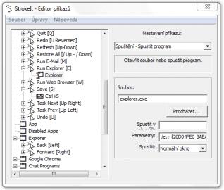 <p>StrokeIt - bohaté funkce, ale mírně nepřehledné rozhraní</p>