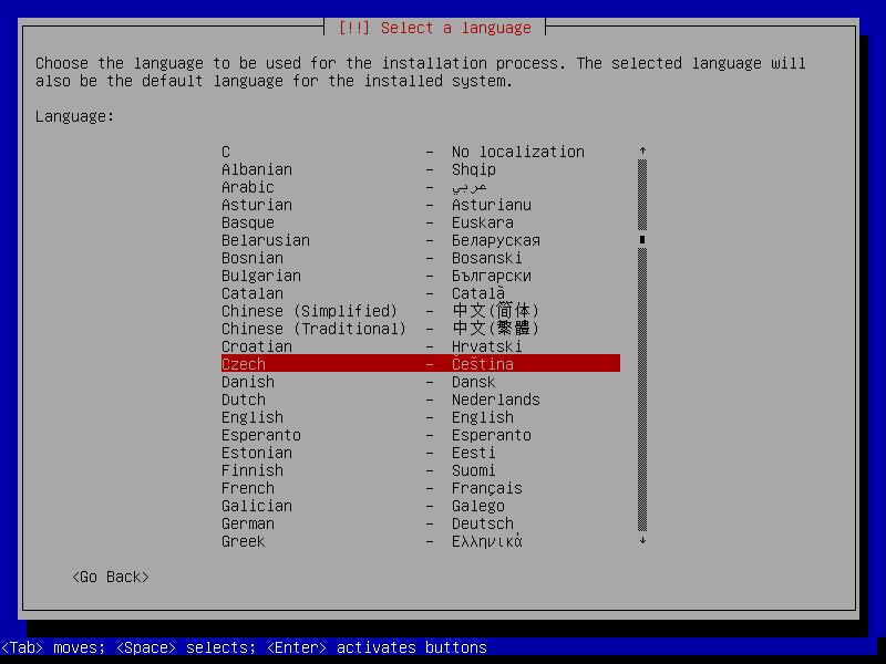 Debian 7.0 Wheezy textová instalace