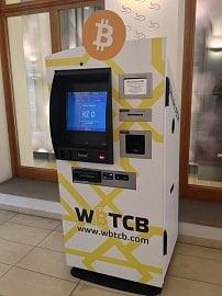 Bitcoinový bankomat v Praze v ulici Na příkopech. (10/2014)