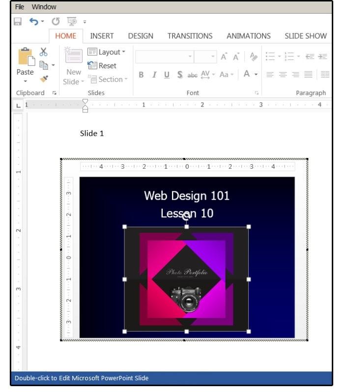 Snímek PowerPointu můžete upravit poklepáním levým tlačítkem myši