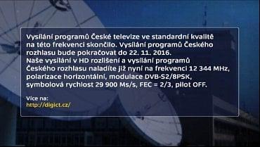 SD kanály ČT ukončeny.