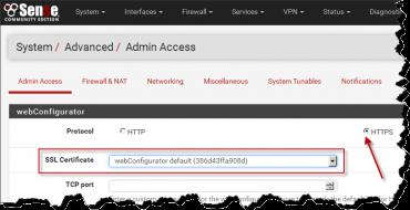 pfSense: Default SSL cert