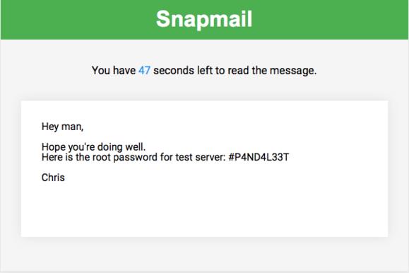 Rozšíření Snapmail šifruje a likviduje e-maily obsahující citlivé údaje.