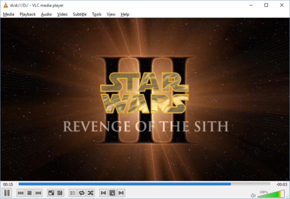 Aplikace VLC spuštěná ve Windows 10