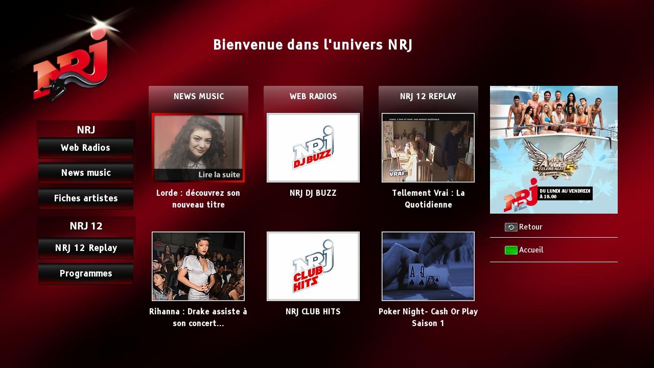 Hybridní vysílání mediální skupiny NRJ France