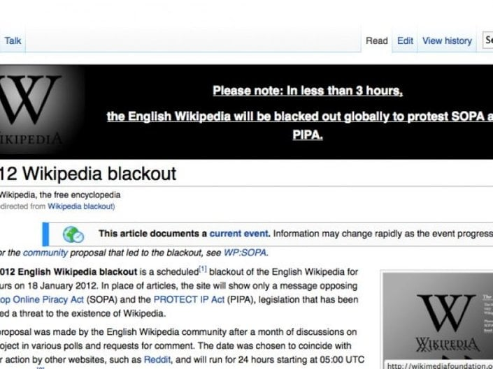 Wikipedie protesty