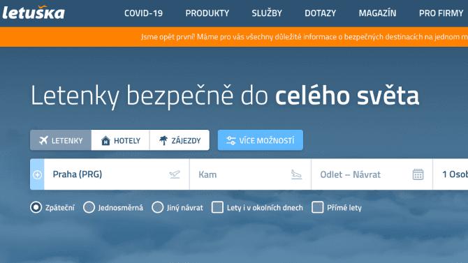 [aktualita] Letuška.cz loni utržila 425 milionů. Letošní rok výrazně ovlivní koronavirus