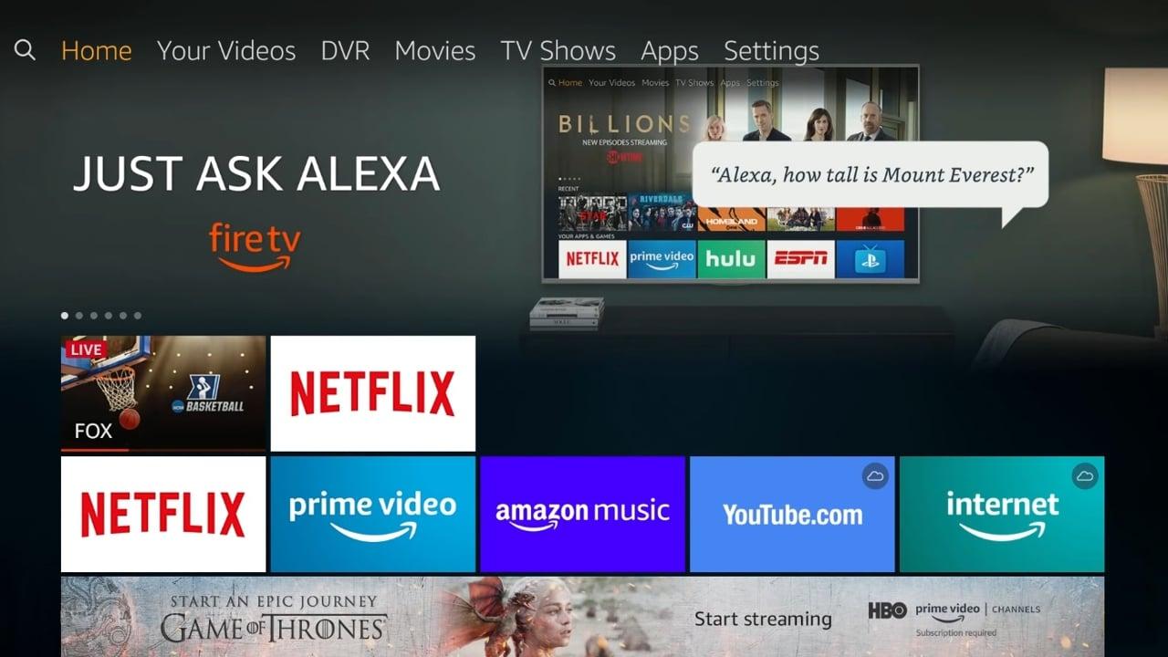 DVR management v kombinaci Fire TV Recast a Fire TV Stick