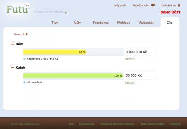 Futu - demo účet - dosažení osobních cílů