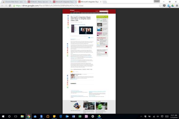 Na Disk Google můžete pomocí rozšíření Save to Google uložit i úplnou internetovou stránku.
