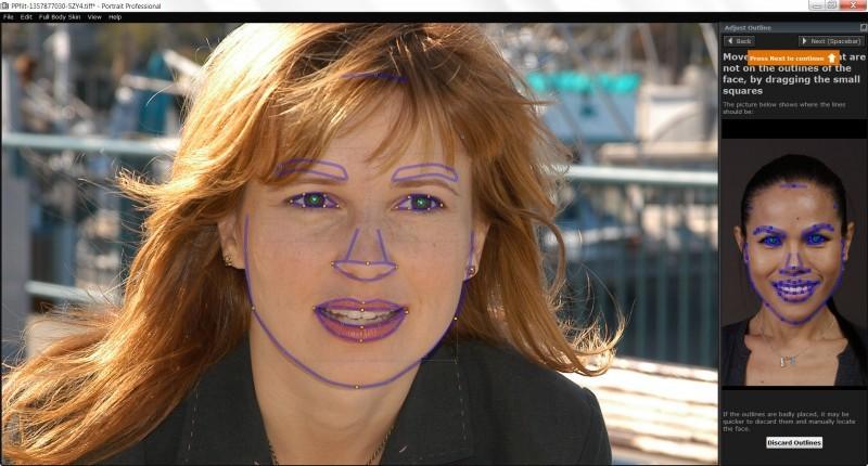 Naznačíme si základní obrysy tváře.