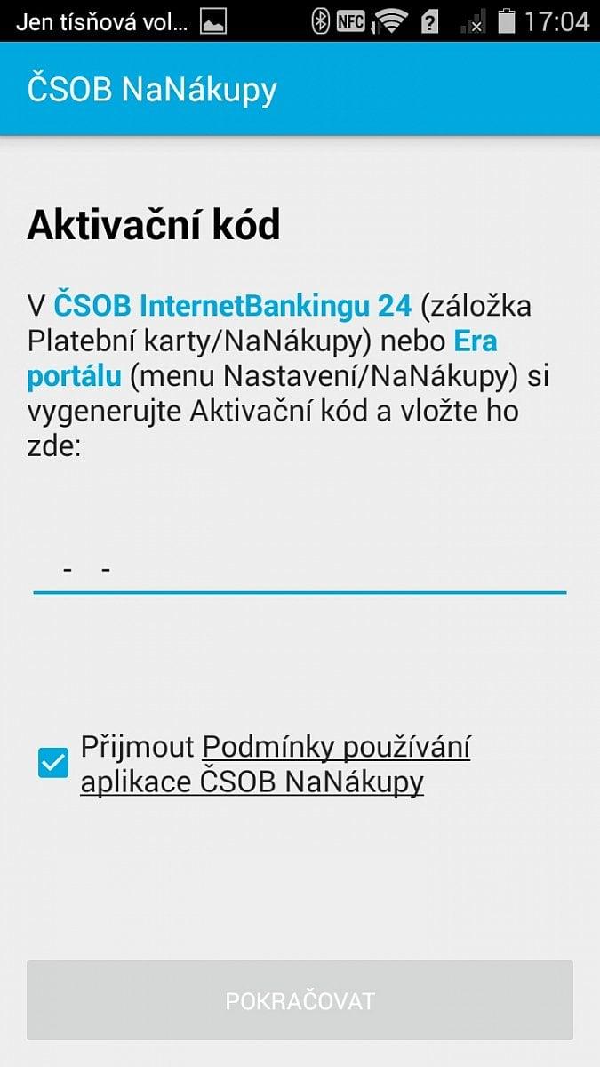ČSOB NaNákupy NFC