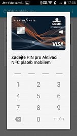 Aktivaci karty potvrzujete zvoleným PIN.