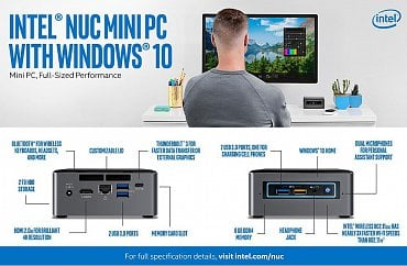 Intel NUC 7 Mainstream s OS Windows 10 Home