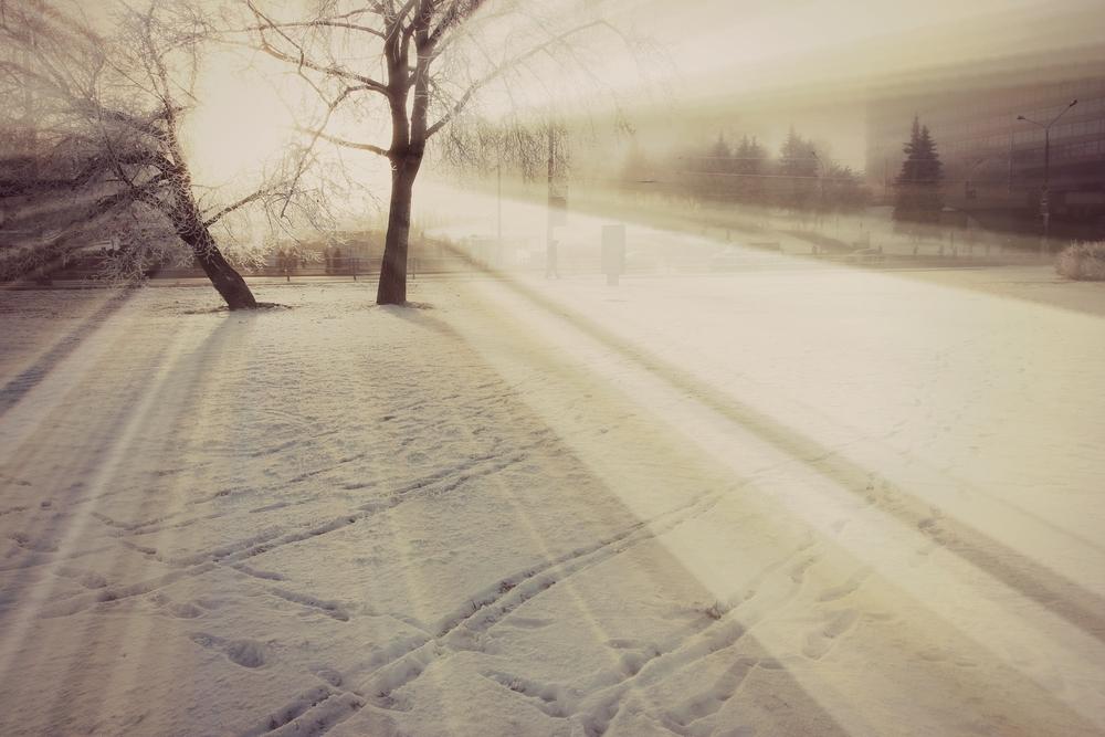 zima, sníh,