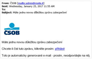 Podvodný e-mail.