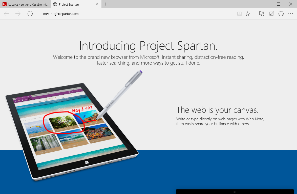 Spartan Project (Windows 10 Technical Preview)