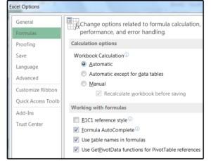 Pokud chcete svému ne právě svižnému listu Excelu dopřát trochu života, vypněte možnost automatického přepočítávání sešitu.
