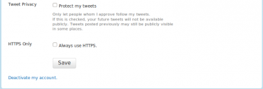 Twitter přes HTTPS
