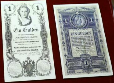 Bankovky z vídeňské tiskárny.