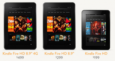 Nové Kindle Fire HD