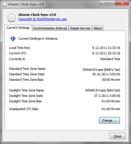 Pomocí Atomic Clock Sync zajistíte přesný čas na vašem PC