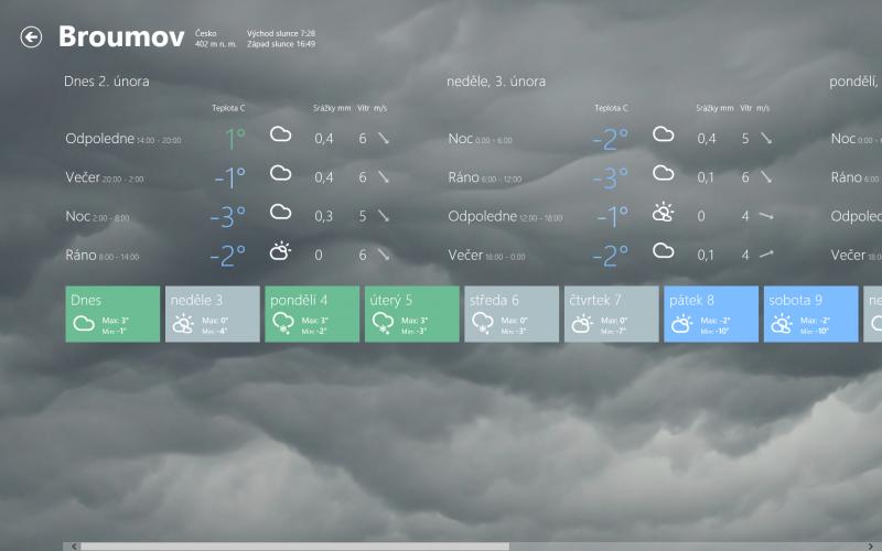 Storm je povedenou aplikací pro Windows 8