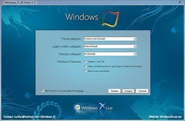 Windows 8 UX Pack - vzhled Windows 8 na vašem počítači už dnes