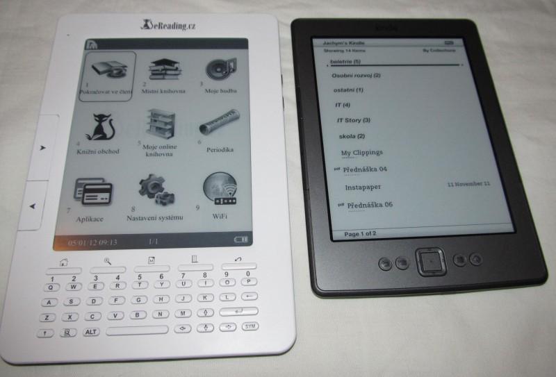 Čtečka eReading versus Kindle 4