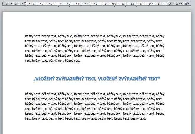 vložený text