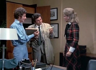 Roddy McDowall, Peter Falk a Anne Francis v episodě Past (1972) seriálu Columbo